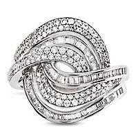 1 ct. tw. Diamond Swirl Ring in 10K White Gold