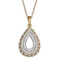 1/3 ct. tw. Diamond Drop Pendant in 10K Yellow Gold