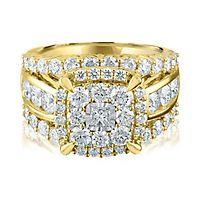 3 ct. tw. Multi-Diamond Engagement Ring in 14K Yellow Gold