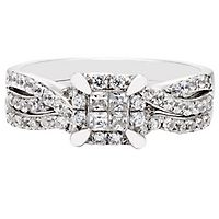 5/8 ct. tw. Multi-Diamond Engagement Ring Set in 10K White Gold