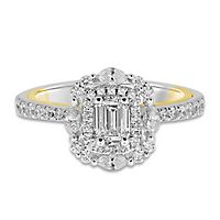 TRULY™ Zac Posen 1 ct. tw. Diamond Engagement Ring 14K White Gold