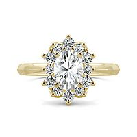 Forever One™ 1 1/4 ct. tw. Moissanite Oval Ring in 14K Yellow Gold