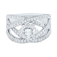 Light Heart™ 1 1/4 ct. tw. Lab Grown Diamond Ring in 14K White Gold