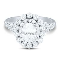 Light Heart™ 2 ct. tw. Lab Grown Diamond Engagement Ring in 14K White Gold
