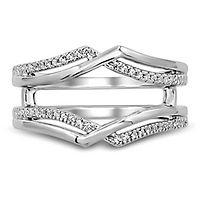 1/8 ct. tw. Diamond Ring Enhancer in 10K White Gold