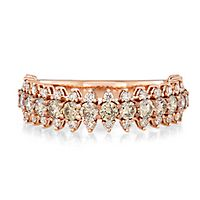 Australian Diamonds 1 1/7 ct. tw. Golden Diamond Band in 14K Rose Gold