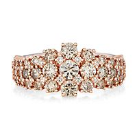 Australian Diamonds 2 ct. tw. Golden Diamond Ring in 14K Rose Gold