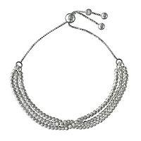 Beaded Bolo Bracelet in Sterling Silver