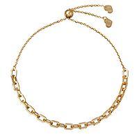 Friendship Link Bolo Bracelet in 14K Yellow Gold