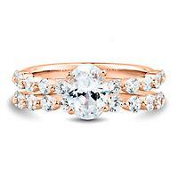Light Heart™ 2 ct. tw. Lab Grown Diamond Engagement Ring Set in 14K Rose Gold