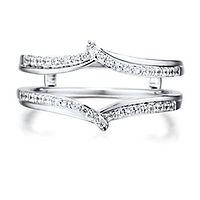 1/4 ct. tw. Diamond Ring Enhancer in 14K White Gold
