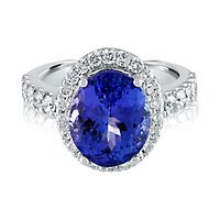 Tanzanite & 1 ct. tw. Diamond Ring in 14K White Gold