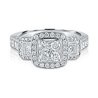 1 1/5 ct. tw. Multi-Diamond Engagement Ring in 14K White Gold