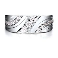 Men's 3/4 ct. tw. Diamond Ring in 10K White Gold