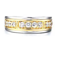 Men's 1 ct. tw. Diamond Ring in 10K White & Yellow Gold