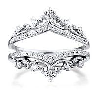 3/8 ct. tw. Diamond Ring Enhancer in 14K White Gold