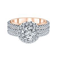 2 ct. tw. ALTR™ Created Diamond Engagement Ring in 14K White & Rose Gold