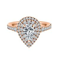 1 ct. tw. ALTR™ Created Diamond Pear Engagement Ring in 14K Rose Gold