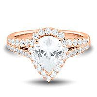 Light Heart™ 2 ct. tw. Lab Grown Diamond Engagement Ring in 14K Rose Gold