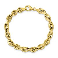 Textured Rope Bracelet in 14K Yellow Gold
