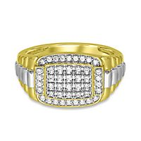 Men's 1/2 ct. tw. Diamond Ring in 10K Yellow & White Gold