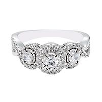 5/8 ct. tw. Diamond Three-Stone Ring in 10K White Gold