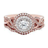 5/8 ct. tw. Diamond Engagement Ring Set in 14K Rose Gold