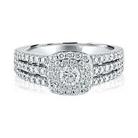 1/4 ct. tw. Diamond Engagement Ring in 14K White Gold