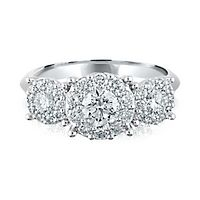 1 1/2 ct. tw. Diamond Three-Stone Ring in Platinum