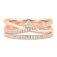 1/4 ct. tw. Diamond Crossover Ring in 10K Rose Gold