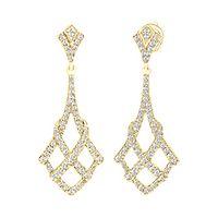 1/2 ct. tw. Diamond Drop Earrings in 10K Yellow Gold