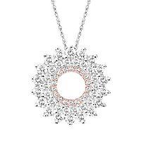 1 ct. tw. Diamond Circle Pendant in 10K White Gold
