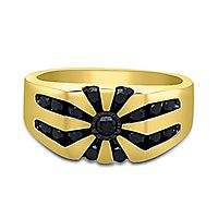 Men's 1 ct. tw. Black Diamond Ring in 10K Yellow Gold