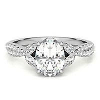 Radiant Star® 1 1/3 ct. tw. Diamond Oval Engagement Ring in 14K White Gold