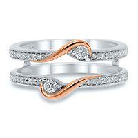1/4 ct. tw. Diamond Ring Enhancer in 14K White & Rose Gold
